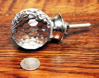 glass drawer knob shabby chic knobs glass knobs faceted glass drawer pull