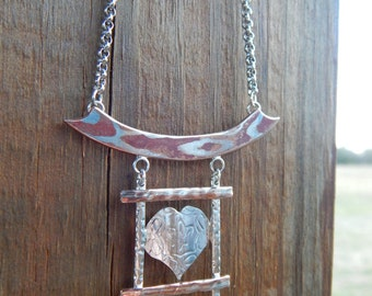 Window to the Soul - Pendant Necklace Sterling Silver & Mokume