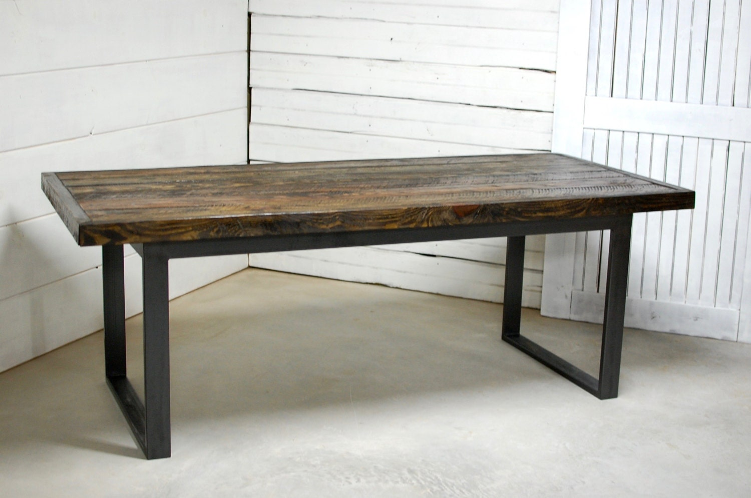 Reclaimed Modern Wood Dining Table By Sumsouthernsunshine On Etsy