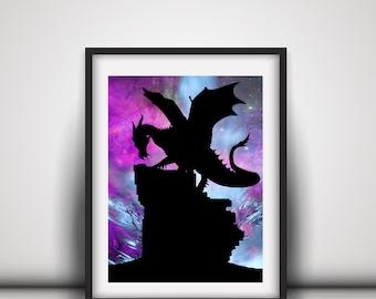 Dragon Wall Decor - Dragon Paper Cut Out - Dragon Wall Art For Boyfriend - Dragon Paper Art - Dragon Nursery Art - Paper Dragon