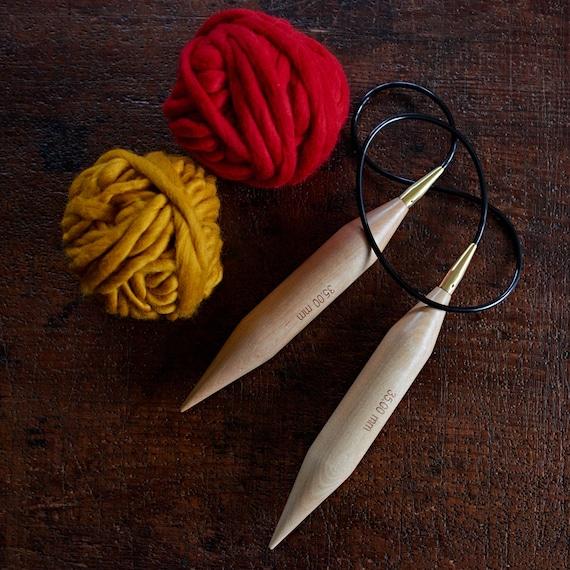 Knitting Needle Sizes 35mm : Mm giant circular knitting needles extreme