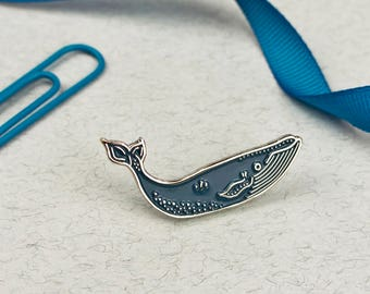 Blue Whale Pin // Soft Enamel Pin // Whale Pin // Lapel Pin // Cute Pin // Blue Pin // Sea Pin // Nautical Pin // Ocean Pin // Whales