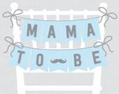 Mustache Baby Shower Chai...