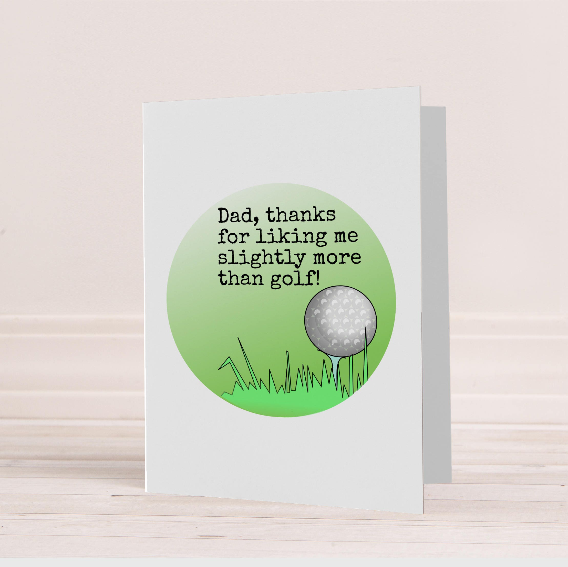 Golf card for Dad Funny golf card Golf Birthday card for – Birthday Cards Golf