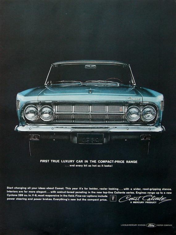 1964 Mercury Comet Caliente Ad 1963 Mercury Car