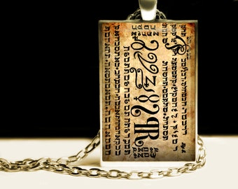 Wealth talisman - it helps to find treasure, The Seventh Seal from the 6th & 7th Book of Moses pendant, occult necklace #395.7