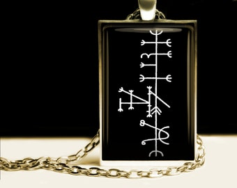 Luck talisman, Lukkustafir, Galdr amulet, viking pendant, Icelandic magical stave, runes jewelry, pagan necklace, nordic #463