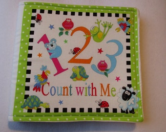 1 2 3 Count with Me Soft Cloth Book/ Children's Counting Book