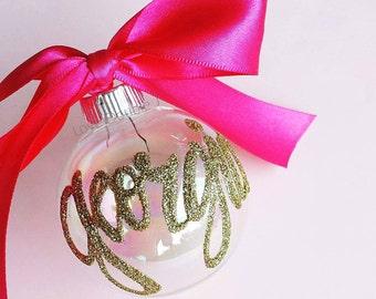 Glitter Personalized Christmas Ornament