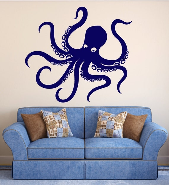 items similar to vinyl wall decal octopus tentacles marine animal sea decor stickers 249ig on etsy. Black Bedroom Furniture Sets. Home Design Ideas