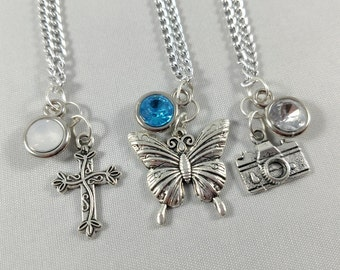 Life is Strange Character Inspired Mini Jewel & Charm Necklaces - Max, Chloe, and Kate