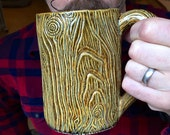 Lumberjack Mug, Morning Wood, Lumbersexual, Handmade, coffee, 20oz, Large Manly pottery Mug, beard accessories, mens goods, gift for him