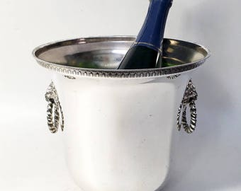 French Vintage Silver Plated Champagne Bucket