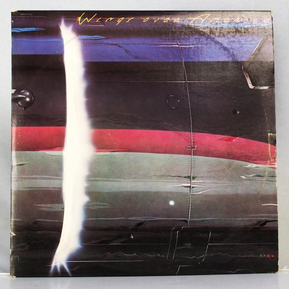 Wings, Paul McCartney Wings Over America Album Capitol Records 1976 Original Vintage Vinyl Rock Record