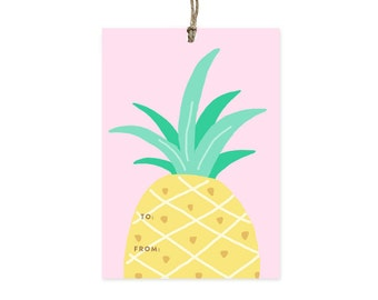 Pineapple Top - Gift Tags Set of 10
