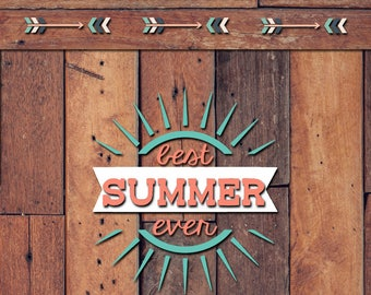 Best Summer Ever Decal | Yeti Decal | Yeti Sticker | Tumbler Decal | Car Decal | Vinyl Decal