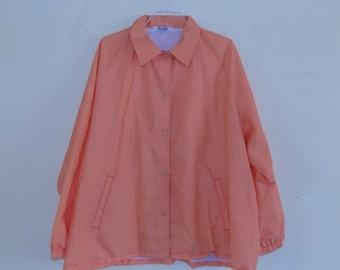 Pastel 80s Creamsicle Orange Windbreaker