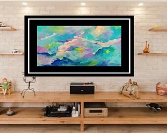 Original abstract art, acrylic painting print, giclee print, modern art print ,modern painting, acrylic art, fine art canvas wall art print.
