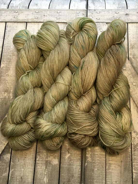 Hand Dyed Yarn, Sea Glass, Fingering Weight,2 ply,80/10/10 Superwash Merino/Nylon/Cashmere mix,100 grams,indie dyed yarn,knit & crochet