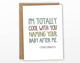 Funny New Baby Card | Baby Congratulations ~ Baby Name by Cypress Card Co.