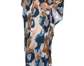Plus Size Maxi Kaftan Dresses Wedding Party Baby Shower Dress Flower