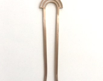 Hairpin//Bunpin//Topknot//Hair Fork//Half Moon Hairpin//
