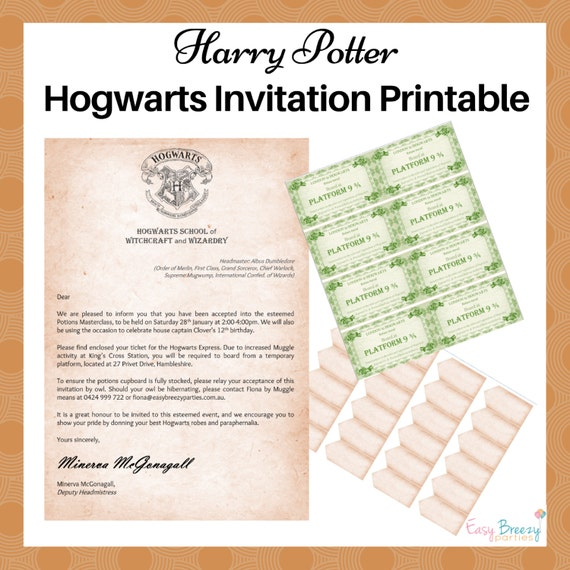 harry potter train ticket printable pdf