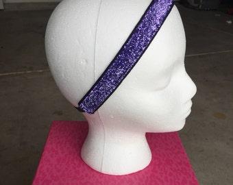 Purple Glitter Headband