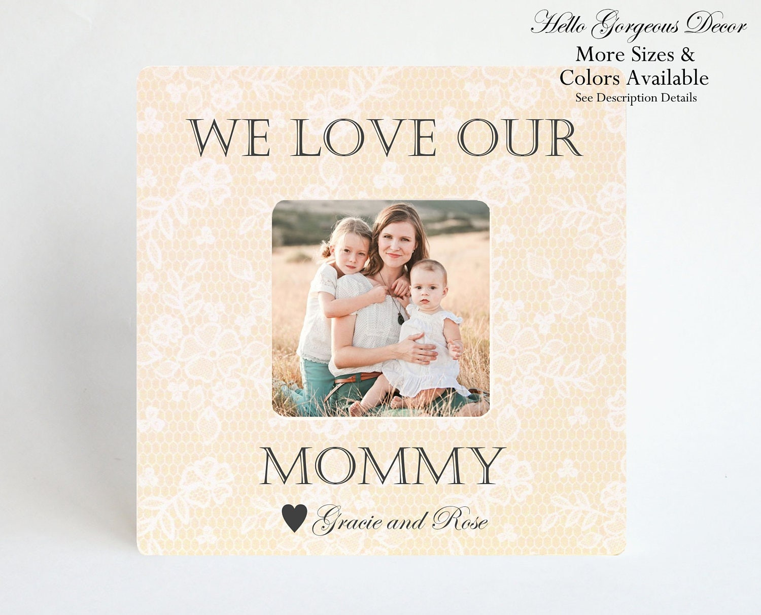Mom Mother Picture Frame Gift From Kids Children Personalized Photo Birthday Ideas Expecting New Of Twins