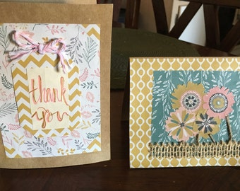 Handmade Thank You Cards (2 pack)