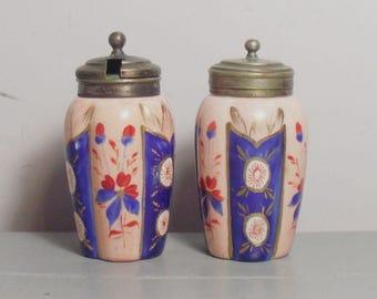 Vintage EPNS and Ceramic Cruet Set/EPNS Pepper Shaker/EPNS Condiment Set/Ceramic Mustard Pot/Silver Plated Pepper Pot/Ceramic Condiment Set
