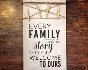 Every Family Has A Story | Black on White | Picture Holder