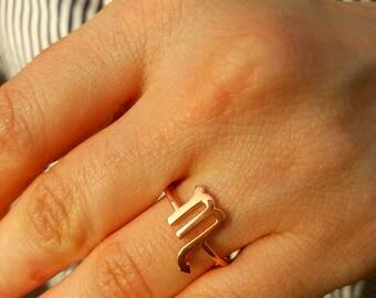 Scorpio Ring-Zodiac Ring-Horoscope Ring-Astrology Sign-Zodiac Jewelry-925K Silver Handmade Zodiac Scorpio Ring