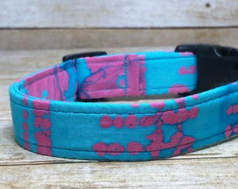 Boho Dog Collar, Trendy Dog Collar, Girl Dog Collar, Colorful Dog Collar, Turqousie Dog Collar, Tie Dye Dog Collar, Pet Collar, New Pet Gift