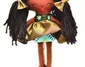 READY TO SHIP/Cloth Doll , Toy Doll, Handmade Rag doll, Homemade Rag doll, Rag doll, tutu, ballet , ballerina doll, side bun, handmade