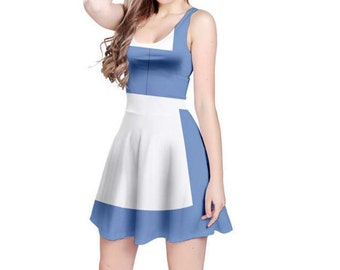Adult Town Belle Beauty and the Beast Inspired Skater Dress