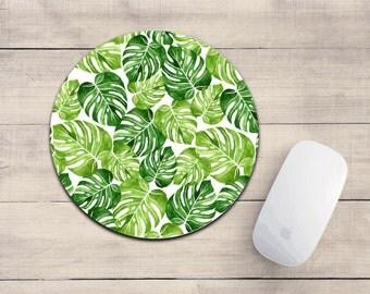 Palm Leaf mousepad.Banana leaves.Tropical decor.Mouse pad.Desk accessories.Desk decor.Cute mousepad.
