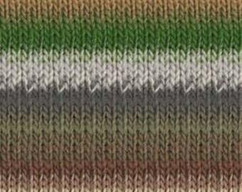 Noro Kureyon  #343  100% Wool Natural, Brown, Pink, Green