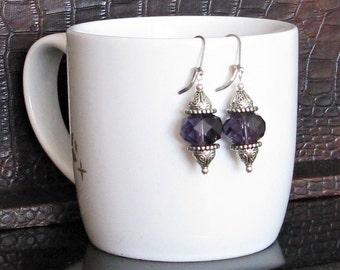 Big & Bold Purple Crystal Earrings