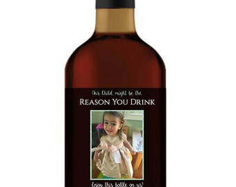 Our Child Might Be The Reason You Drink Wine Labels, Teacher Gift Wine Labels, Daycare Gift, Father's Day Gift- DIY Printable