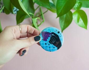 Printed pocket mirror | Mystic Space coffee time