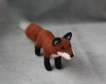 Needle Felted Red Fox, Needle Felted Fox, Miniature Felted Fox Wool Sculpture, Fox Gifts, Fox Art, Fox Decoration