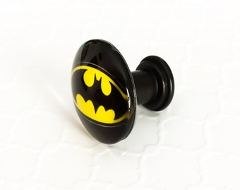 Batman Dresser Drawer Knobs ~ Kids Dresser Pulls ~ Batman Bathroom ~ Superhero Knobs