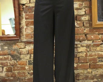Vintage Black Flare Strech High Waisted Long Pants