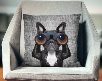 French Bulldog Gifts | French Bulldog Pillow | Frenchie | Bulldog Pillow | French Bulldog Art | Dog Pillow | Frenchie Pillow