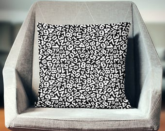 Number Pillow | Number Pillow Case | Number Throw Pillow | Number Pillow Cover | Number Cushion | Number Décor | Number Pillowcase