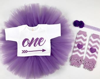 Baby girl 1st birthday outfit - Purple - Lavender - Baby girl outfit - Smash cake outfit girl