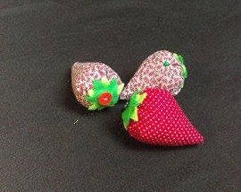 Strawberry Pincushion - Handmade