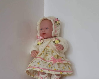"Handmade Baby Dolls Clothes for 9"" - 10"" dolls - BERENGUER Mini La Newborn / Reborn or similar"