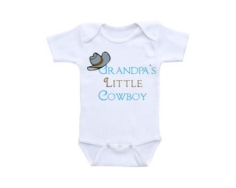 Little Cowboy Baby Clothes or Gerber Onesie® Cowboy Onesie® Grandpa Gift Grandpa Onesie® Farm Baby Clothes Western Baby Clothes Boy Onesie®